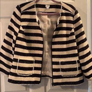 Crown & ivy striped jacket
